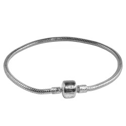 Carlo Biagi 7.0 inch Sterling Silver Bracelet with Biagi Logo Clasp