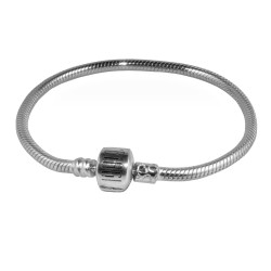Carlo Biagi 8.5 inch Sterling Silver Bracelet with Biagi Logo Clasp