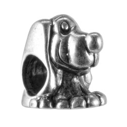 Carlo Biagi Silver Number 1 Dog Spacer Charm