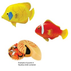 2 x Tropical Fish 4D 3D Puzzle Egg Realistic Model Toy Kits
