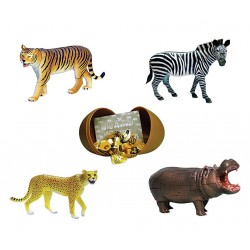 Wild Animals 4D 3D Puzzle Egg Toy Kit Collection 6 (Set of 4)