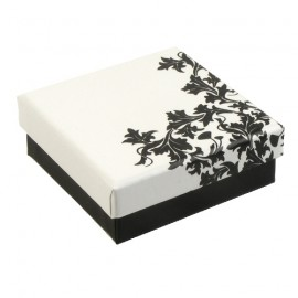 White/Black Floria Earring Presentation Gift Box