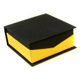 Yellow/Black Boston Earring Presentation Gift Box