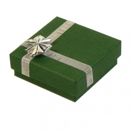 Green/Silver Atlanta Small Pendant or Earring Presentation Box