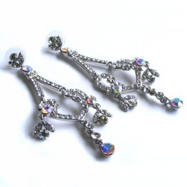 Diamante and AB Crystal Chandelier Earrings