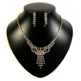 Diamante Tie Necklace Set