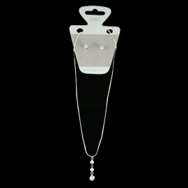 Trailing Crystal Necklace Set