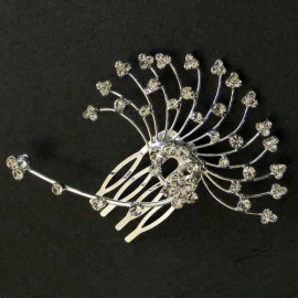 Diamante Flower Fan Fascinator