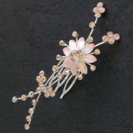 Pink Diamante Flower Fascinator