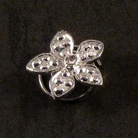 Crystal Flower Swirl Pin