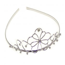 Diamante Scroll Wire Tiara