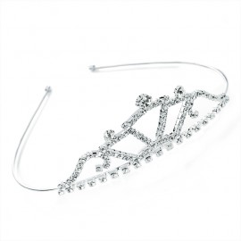 Diamante Crystal Stepped Fan Tiara