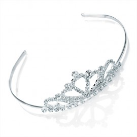 Diamante Crystal Petals Tiara