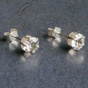 Sterling Silver Austrian Clear Crystal Studs
