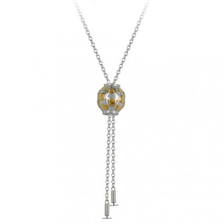 Chrysalis Sterling Silver Two Tone Butterfly Necklace