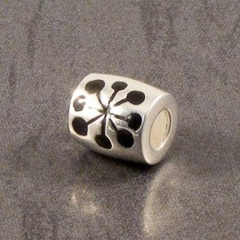 Sterling Silver Barrel Spacer Charm