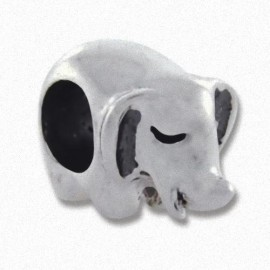 Biagi Silver Elephant Spacer Charm
