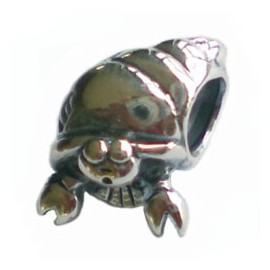 Biagi Silver Hermit Crab Spacer Charm