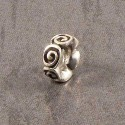 Sterling Silver Spiral Sliding Spacer Charm