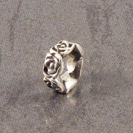 Sterling Silver Rose Spacer Charm