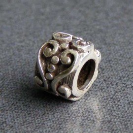 Sterling Silver Filigree Spacer Charm