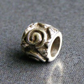 Sterling Silver Spiral Spacer Charm