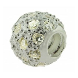 Biagi Silver & CZ Clear Pave Ball
