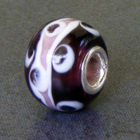 Purple Spot Glass Bead