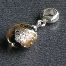 Glass Disc Hanging Charm