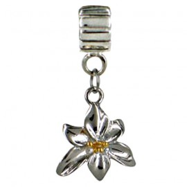 Chrysalis Hanging Silver & Gold Orchid Spacer