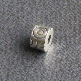 Sterling Silver Tribal Hinged Spacer Charm