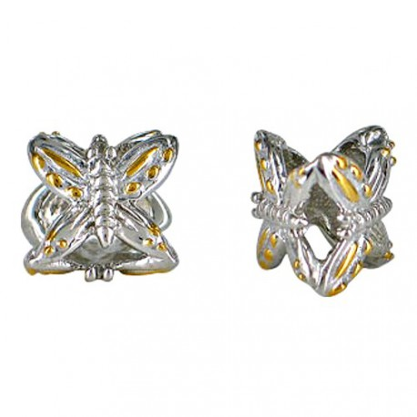 Chrysalis Silver Two Tone Butterfly Spacer