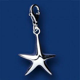 Silver Starfish Sweetie Charm