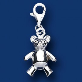 Silver Teddy Sweetie Charm