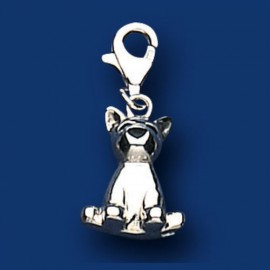 Silver Sitting Dog Sweetie Charm