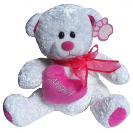 Girlie Posh Paws (21cm) White Angel Teddy Bear