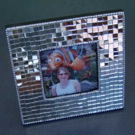 Mirrored Mosaic Photo Frame 3x3