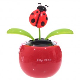 Solar Powered Flip Flap - Ladybird