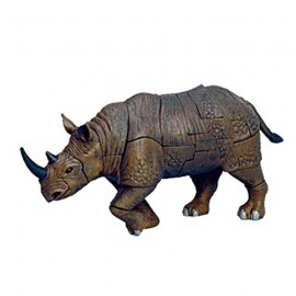 Rhinoceros 4D 3D Puzzle Egg Toy Kit