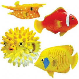 Tropical Fish 4D 3D Puzzle Egg Toy Kit Collection 11 (Set of 4)