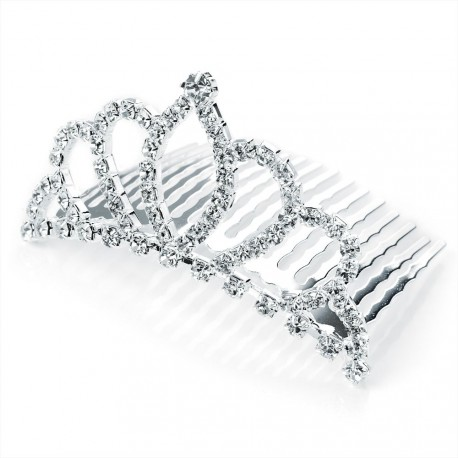 Diamante Crystal Small Crown Comb Tiara