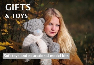 Gifts & Toys including soft toys and 3D puzzle eggs