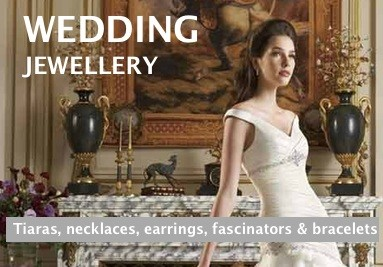 Wedding jewellery including tiaras, necklaces, fascinators and bracelets